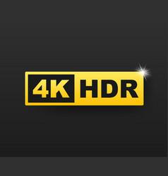 4k ultra hd symbol high definition 4k resolution vector