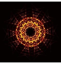 Abstract cosmic fireball vector