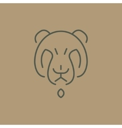 abstract line drawing of bear head vector image