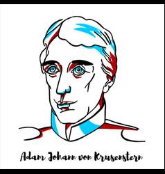 Adam johann von krusenstern portrait vector