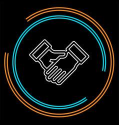 agreement handshake icon vector image