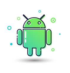 android icon mobile software programming sign vector image