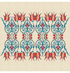 Antique ottoman turkish pattern design ninety one vector