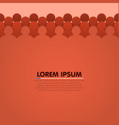 background with people head silhouette vector image