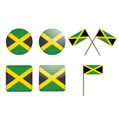 Badges with flag of Jamaica vector