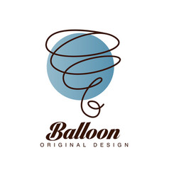 Balloon original design logo template for vector