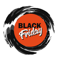 black friday advertising price tag paint stroke vector image