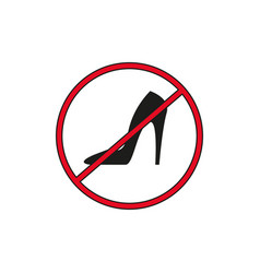 block heel black icon vector image