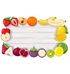 border template with tropical fruits vector image