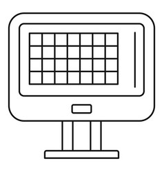 Bowling score table icon outline style vector