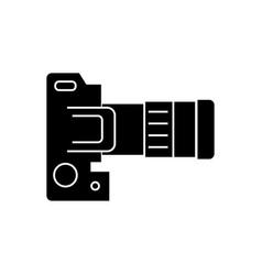 Camera dslr top view icon vector