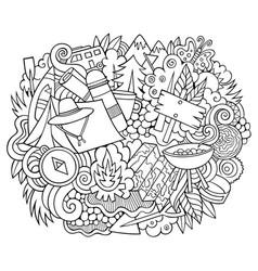 Camp hand drawn cartoon doodles vector
