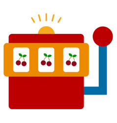 casino slot machine flat icon vector image