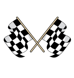 Checkered flags icon for motorsports design vector