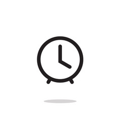 clock icon symbol line outline art simple vector image