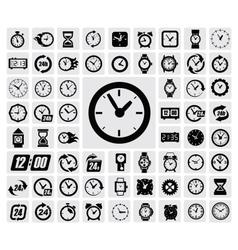 Clocks icon vector