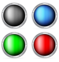 color circle shields vector image
