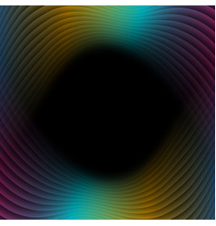 colorful refracted waves abstract tech background vector image