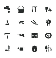 Construction and repair icons set vector