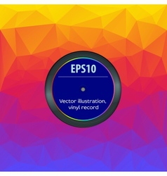 Envelope vinyl record editable vector image