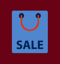 Flat icon of package sale vector