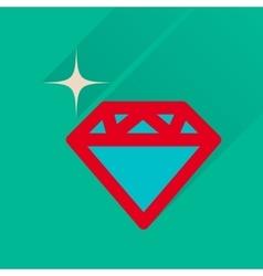 Flat icon with long shadow diamond shiny vector