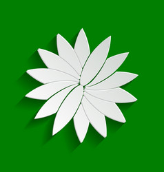 flower sign paper whitish icon with soft vector image