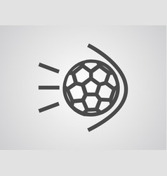 goal icon sign symbol vector image