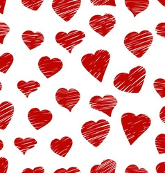 Hand drawn pattern from hearts vector image