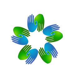 handshake partnership business logo symbol vector image