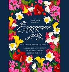 Invitation card for engagement party vector