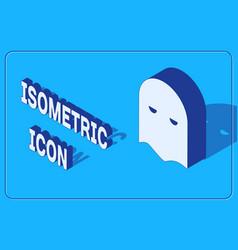 Isometric executioner mask icon isolated on blue vector
