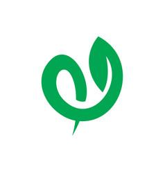 Leaf eco swirl sign logo vector