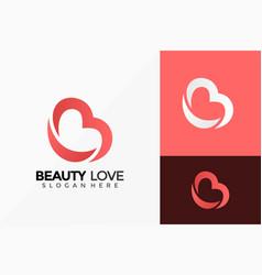 Letter b beauty love logo design creative idea vector