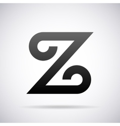 logo for letter Z Design template vector image