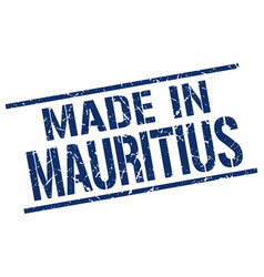 made in mauritius stamp vector image