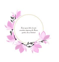 Magnolia flowers vector