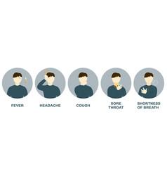 man has symptoms coronavirus vector image