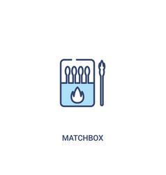 Matchbox concept 2 colored icon simple line vector
