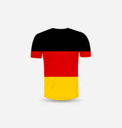 mens t-shirt icon and germany flag vector image
