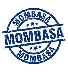 mombasa blue round grunge stamp vector image