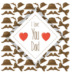 Nice card of fathers day celebration vector
