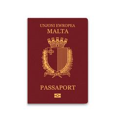 Passport malta citizen id template vector