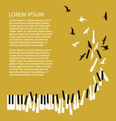 piano keys turn into birds vector image
