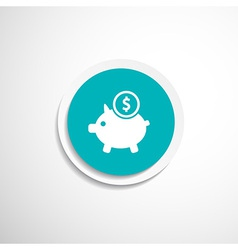 Piggy icon bank economy coin money piggy savings vector image