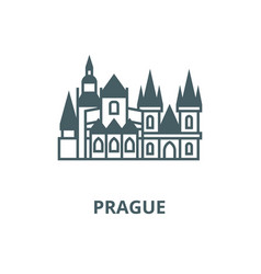 Prague line icon linear concept outline vector