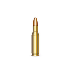realistic rifle cartridge 762 mm 3d military vector image