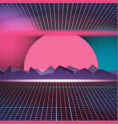 retro neon background design vector image