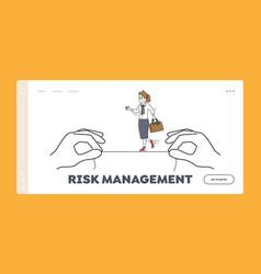 risk management landing page template vector image