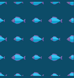 Seamless fish pattern ocean or aquarium vector